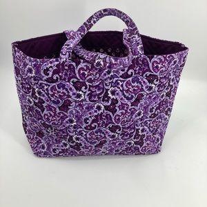 Vera Bradley Extra Large Tote Traveler Bag Purple